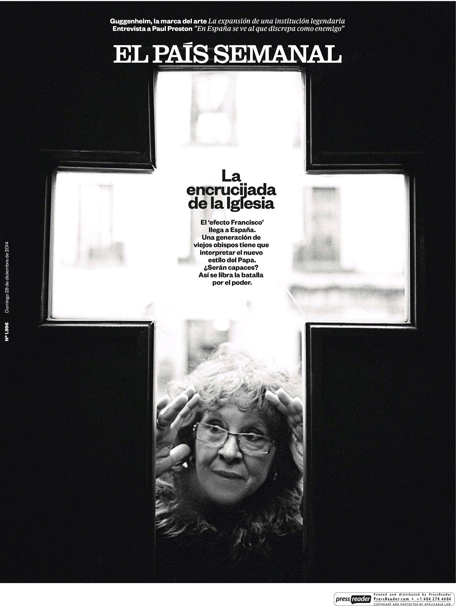 PAIS SEMANAL portada 28 de Diciembre 2014