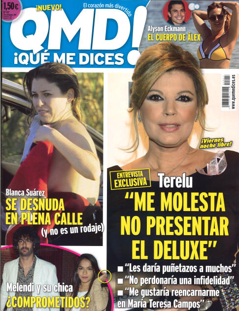 QUE ME DICES portada 15 de Diciembre 2014