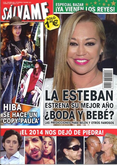 SALVAME portada 29 de Diciembre 2014