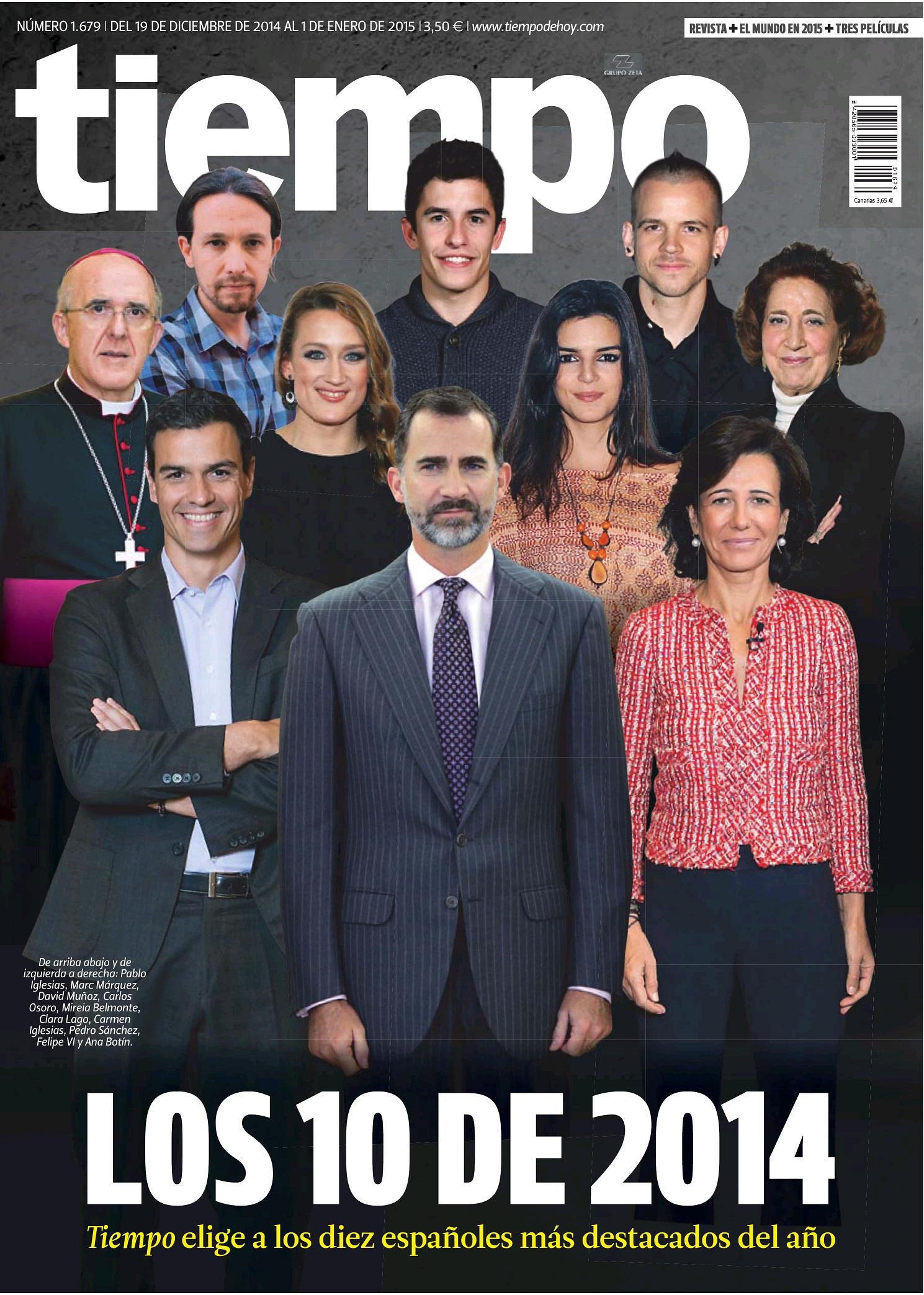 TIEMPO portada 21 de Diciembre 2014