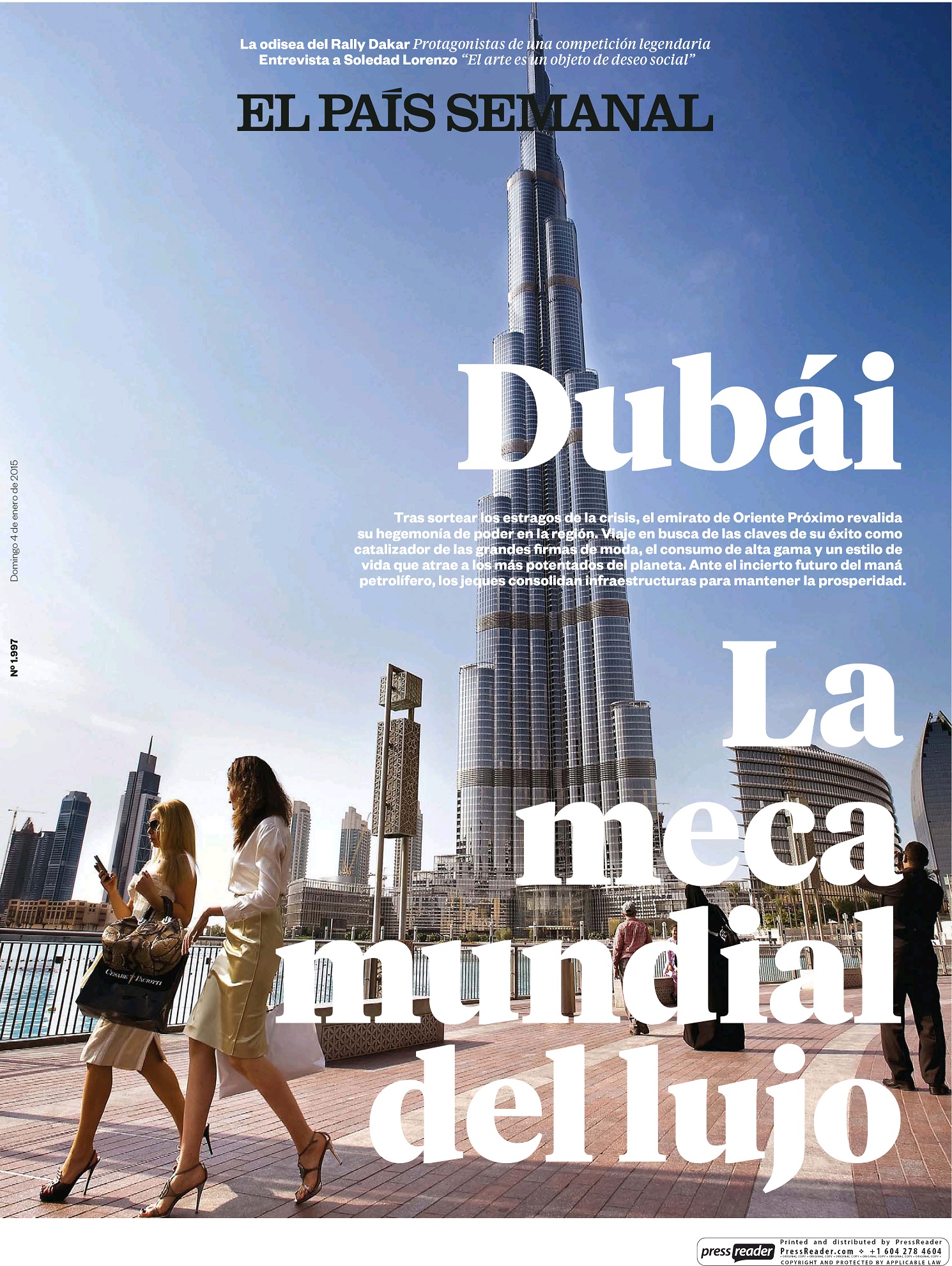 PAIS SEMANAL portada 4 de Enero 2015