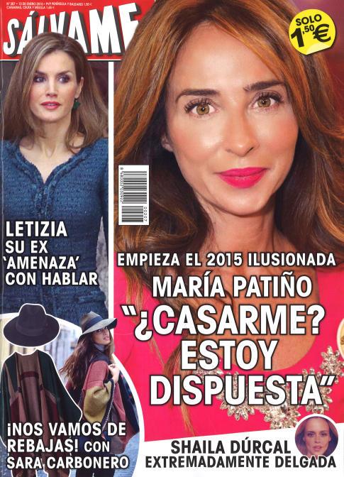 SALVAME portada 5 de Enero 2015