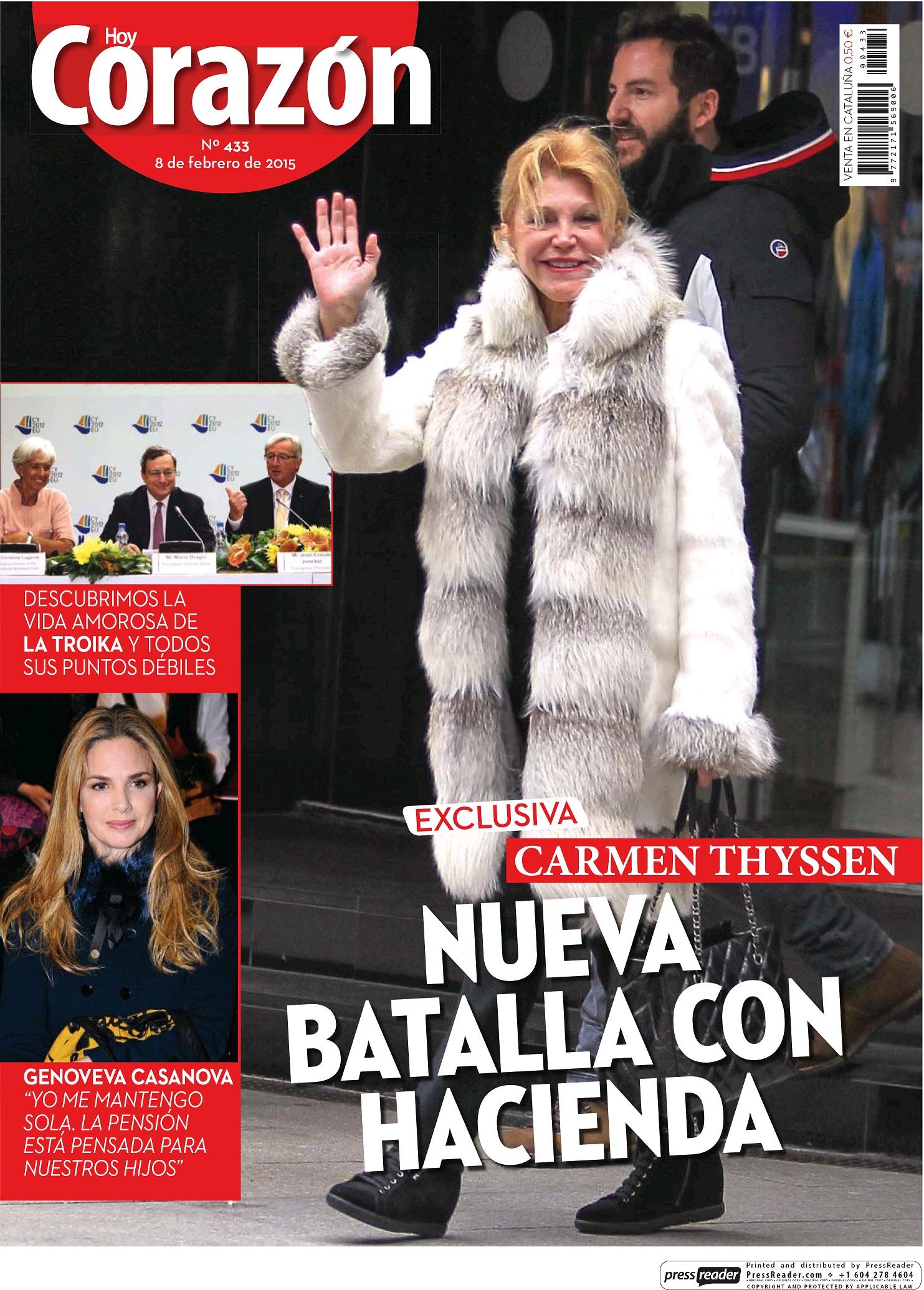 HOY CORAZON portada 8 de Febrero 2015