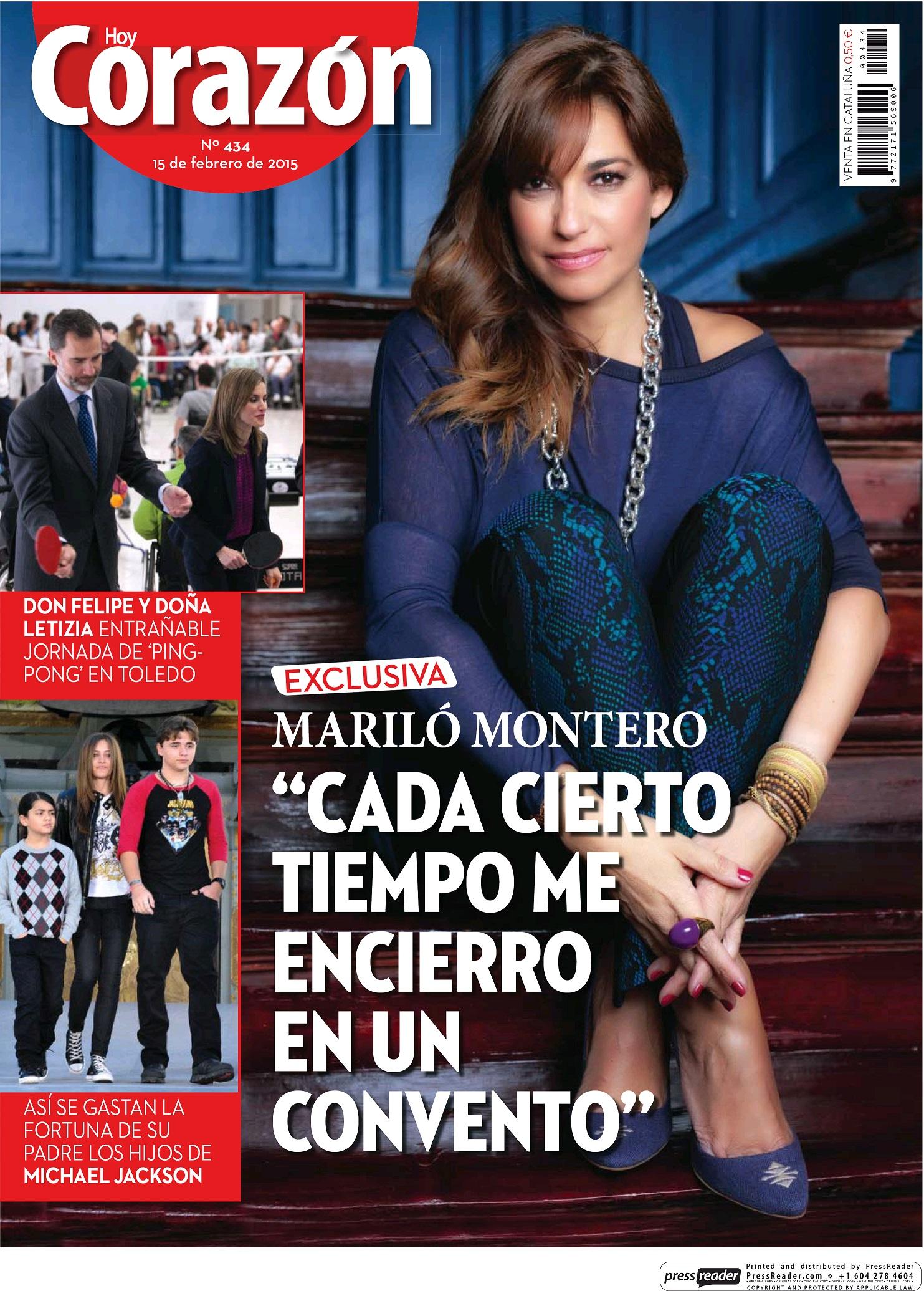 HOY CORAZON portada 15 de Febrero 2015