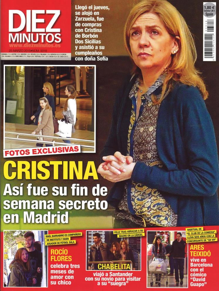 DIEZ MINUTOS portada 18 de Marzo 2015
