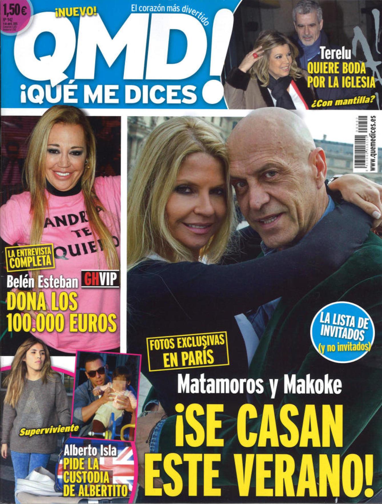 QUE ME DICES portada 30 de Marzo 2015