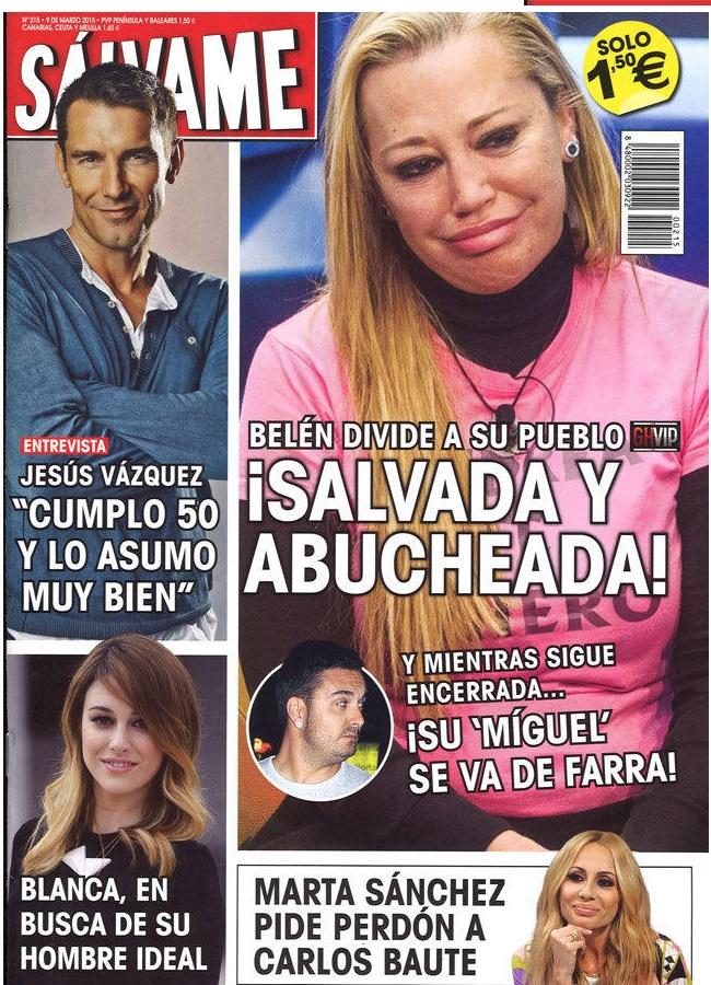 SALVAME portada 2 de Marzo 2015