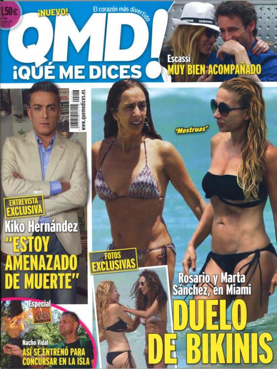 QUE ME DICES portada 11 de Mayo 2015