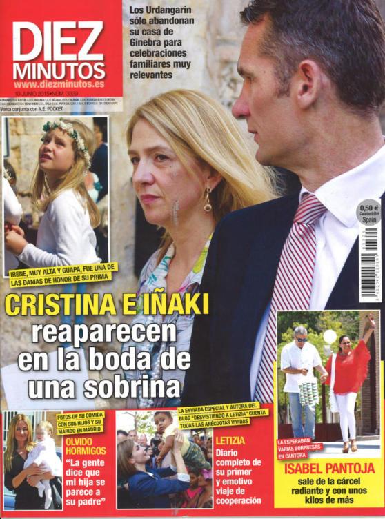 DIEZ MINUTOS portada 3 de Junio 2015