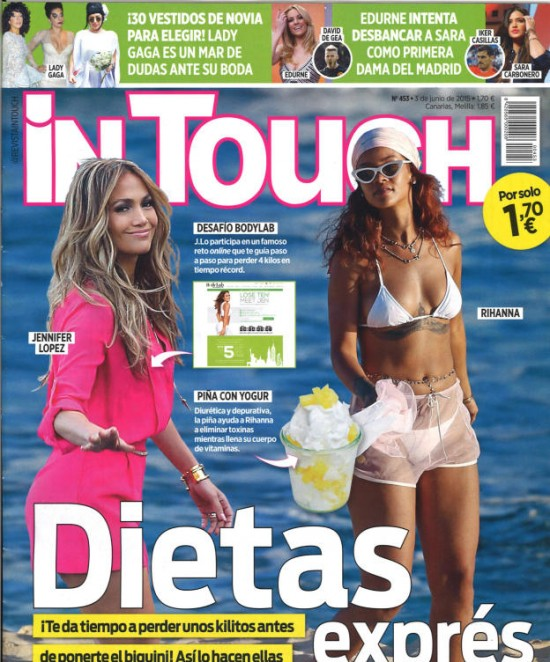 IN TOUCH portada 3 de Junio 2015