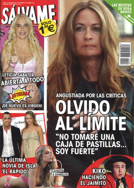 SALVAME portada 1 de Junio 2015