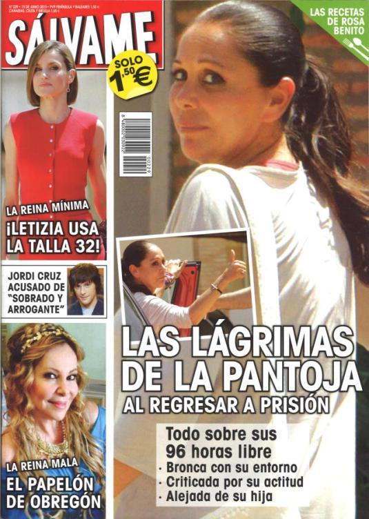 SALVAME portada 8 de Junio 2015