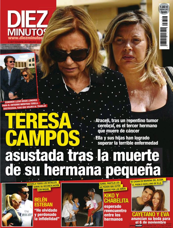 DIEZ MINUTOS portada 2 de Septiembre 2015