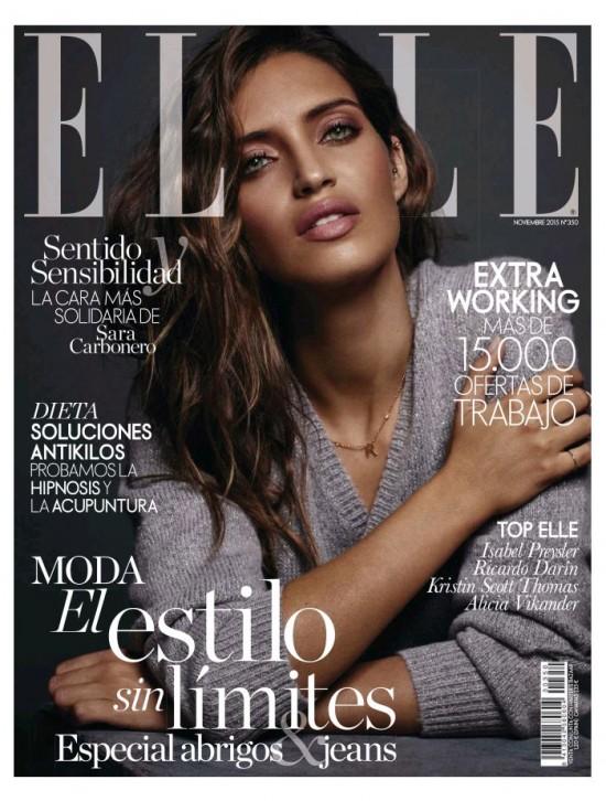 ELLE portada Noviembre 2015