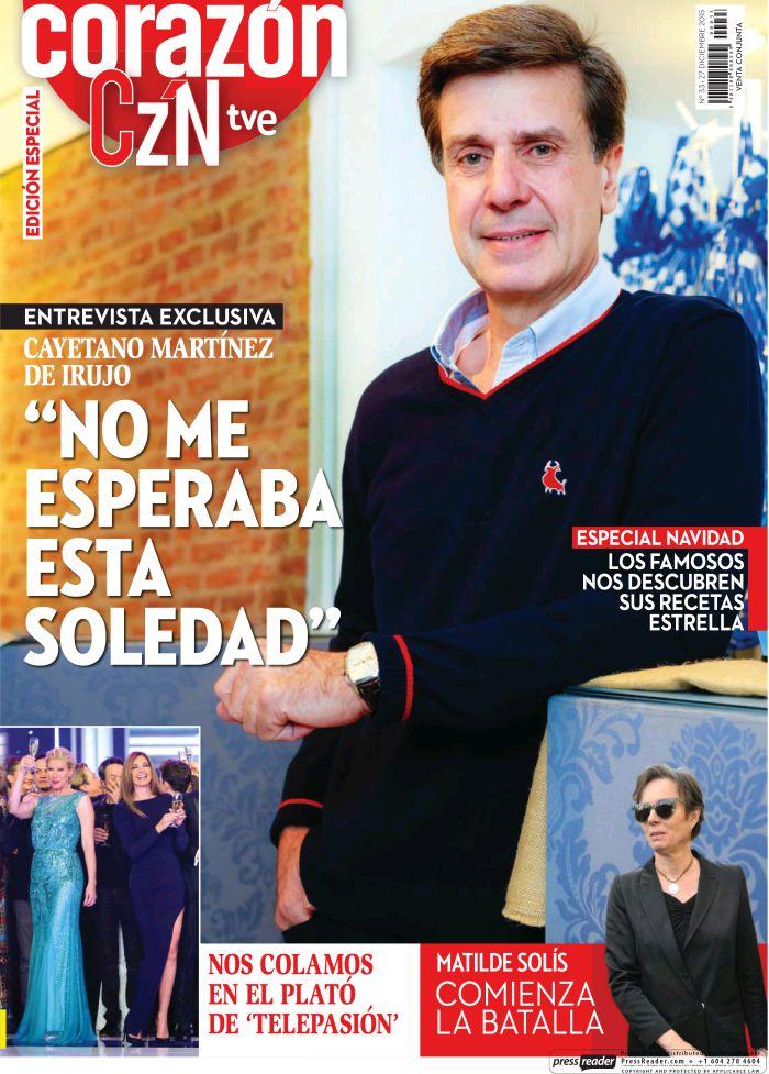 HOY CORAZON portada 27 de Diciembre 2015