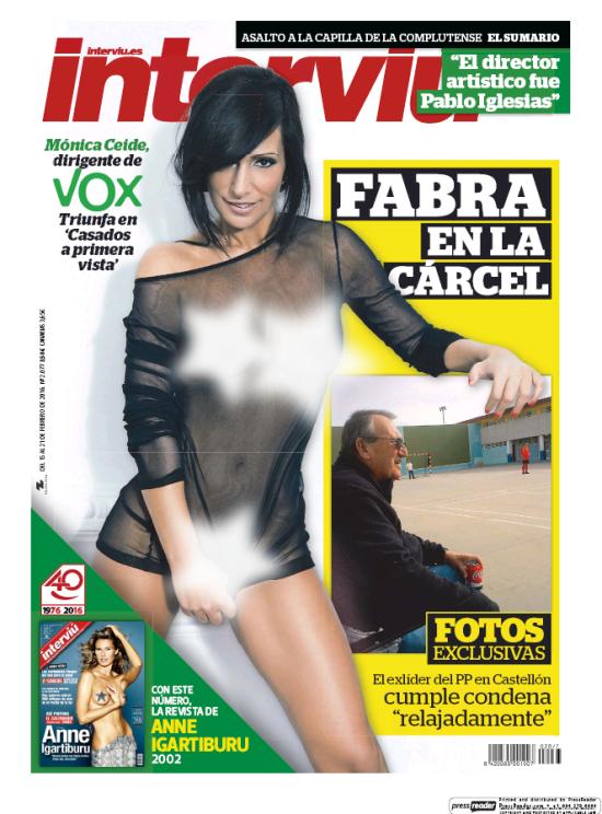 Mónica Ceide Se Desnuda Para Interviú Revista Interviu