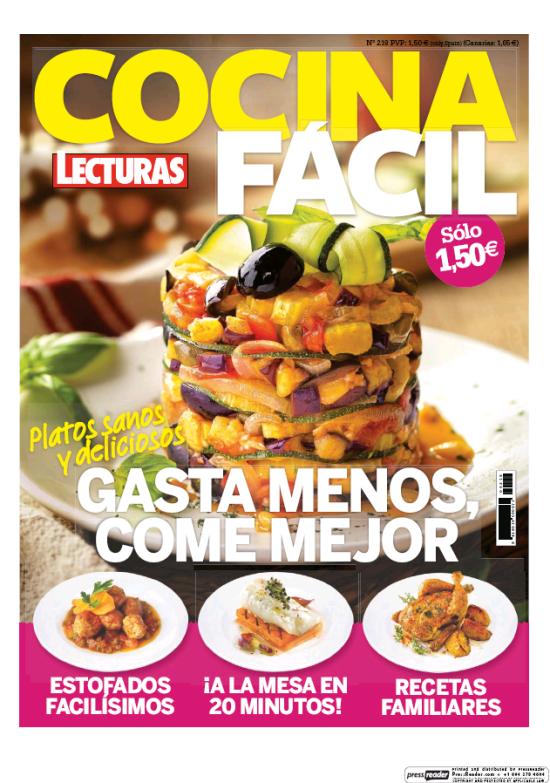 COCINA FACIL portada Marzo 2016
