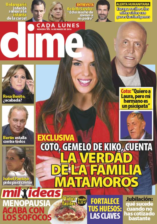 DIME portada 7 de Marzo 2016