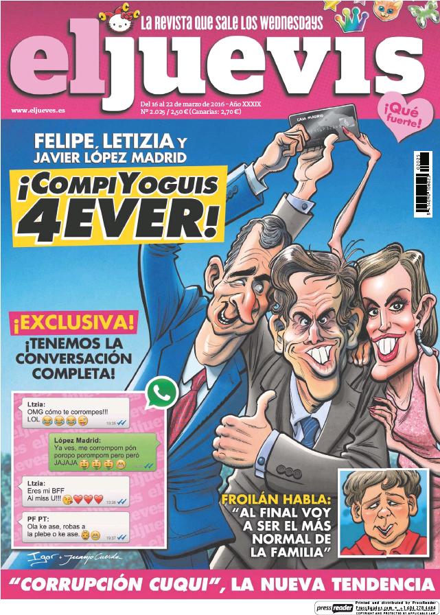 JUEVES portada 16 de Marzo 2016