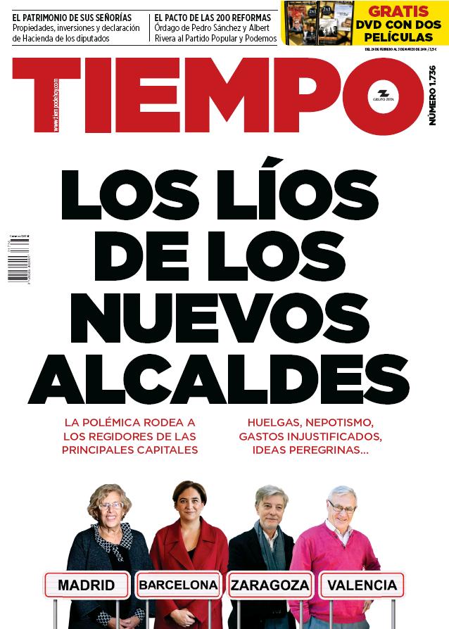 TIEMPO portada 28 de Febrero 2016