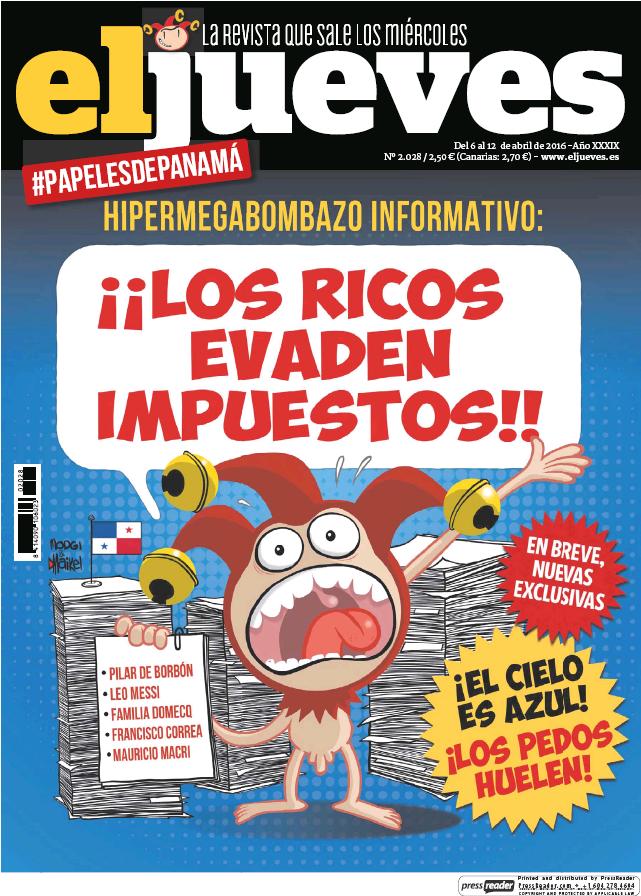 EL JUEVES portada 6 de Abril 2016