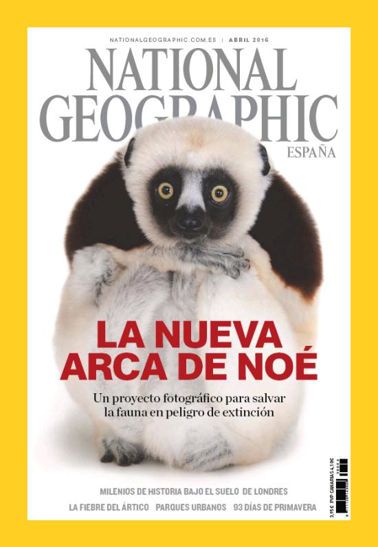 NATIONAL GEOGRAPHIC portada Abril 2016