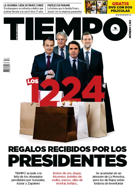TIEMPO portada 19 de Abril 2016