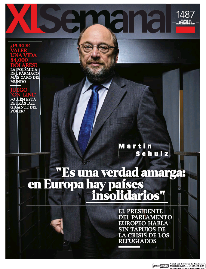 XL SEMANAL portada 24 de Abril 2016