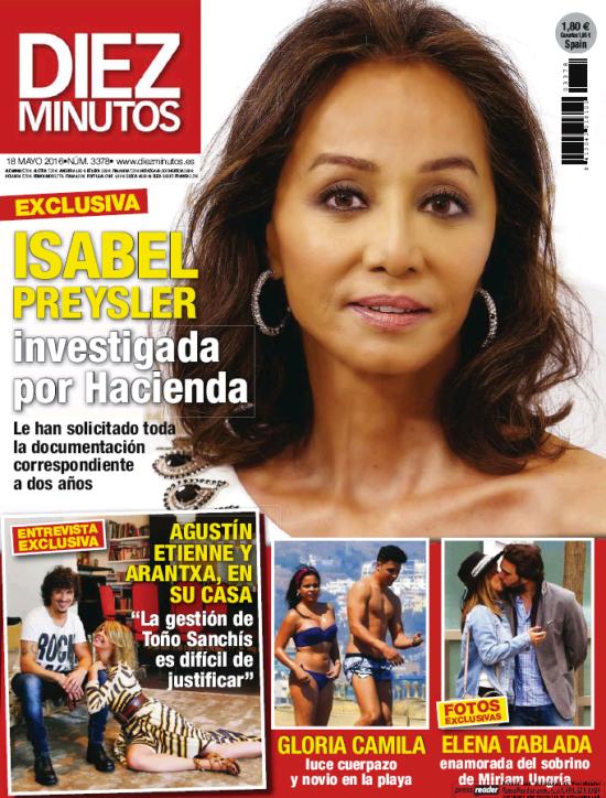 DIEZ MINUTOS portada 11 de Mayo 2016