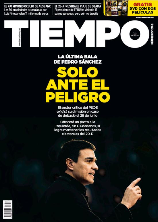TIEMPO portada 8 de Mayo 2016