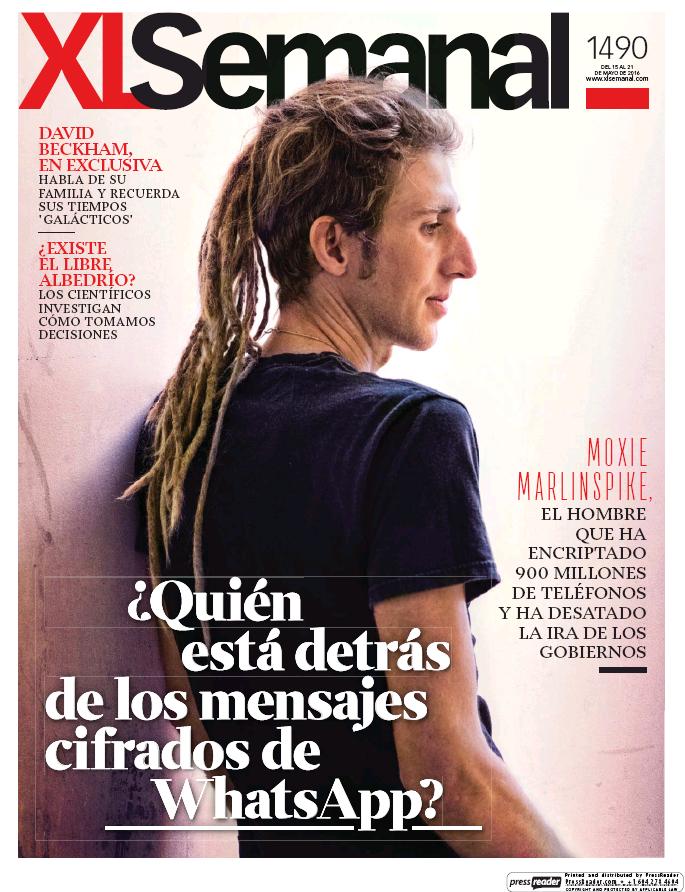 XL SEMANAL portada 15 de Mayo 2016