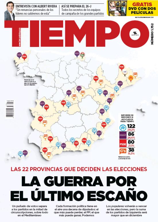 TIEMPO portada 19 de Junio 2016