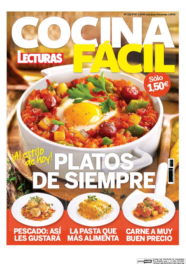 COCINA FACIL portada agosto 2016