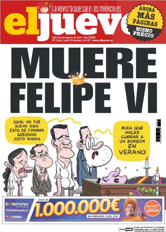 JUEVES portada 3 de Agosto 2016