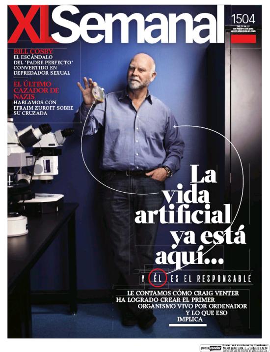 XL SEMANAL portada 21 de Agosto 2016