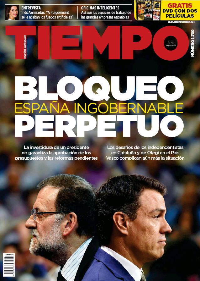 TIEMPO portada 4 de Septiembre 2016