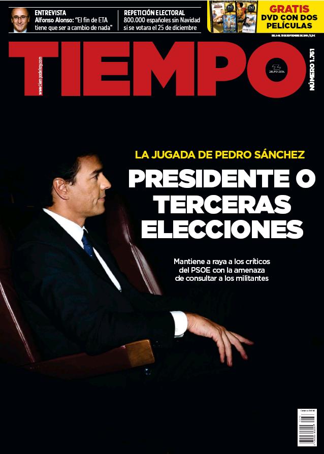 TIEMPO portada 11 de Septiembre 2016