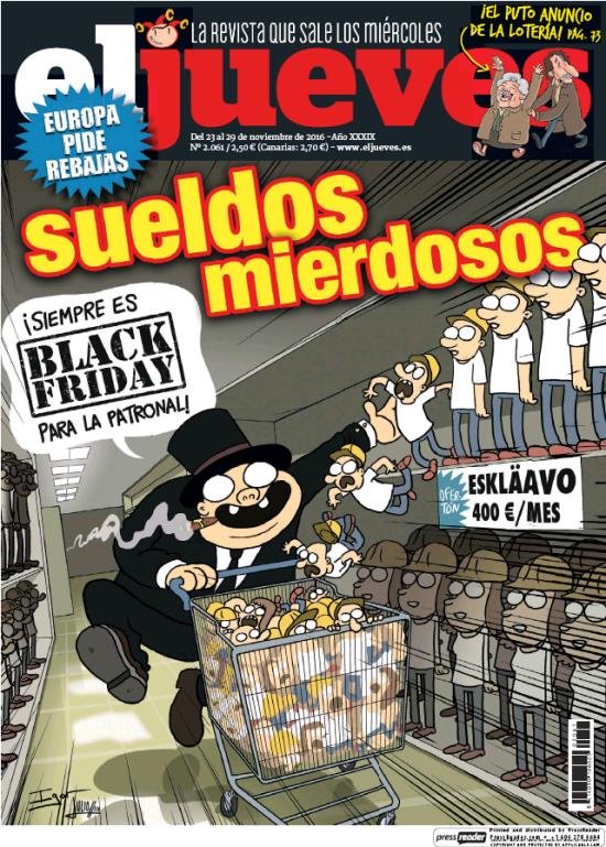 JUEVES portada 23 de Noviembre 2016