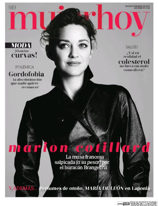 MUJER HOY portada 20 de Noviembre 2016