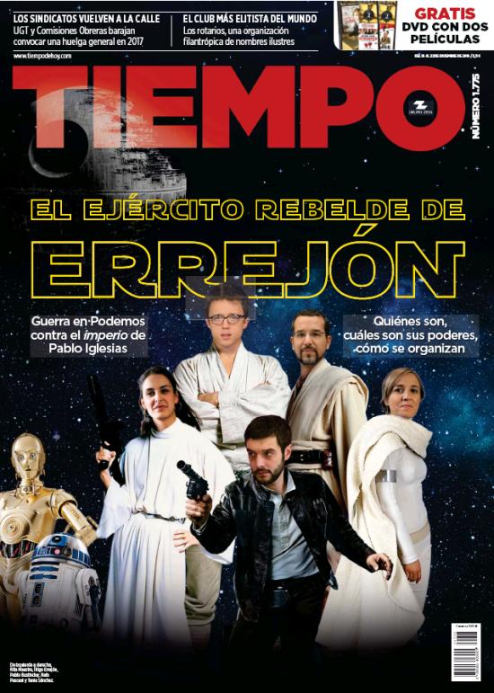TIEMPO portada 18 de Diciembre 2016