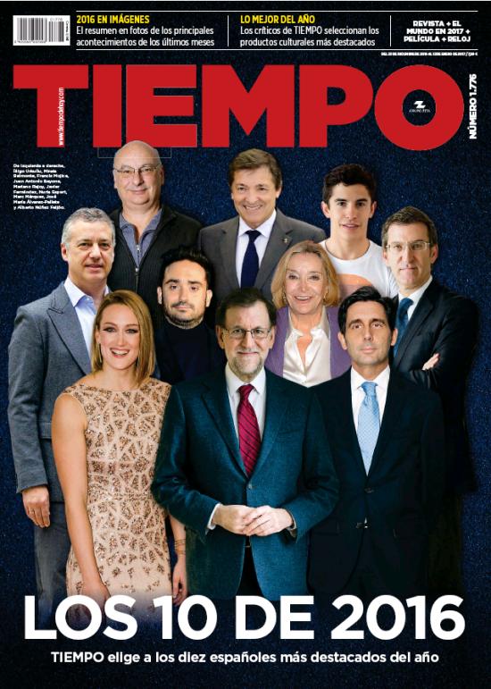 TIEMPO portada 26 de Diciembre 2016