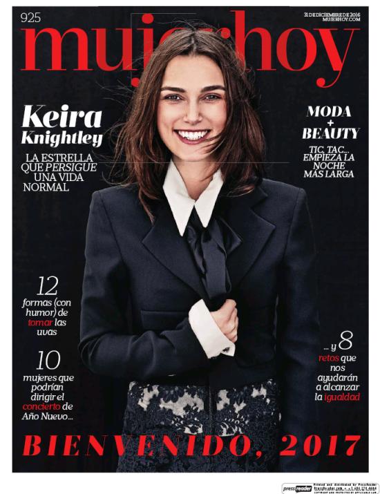 MUJER HOY portada 2 de Enero 2017