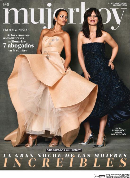 MUJER HOY portada 13 de Febrero 2017