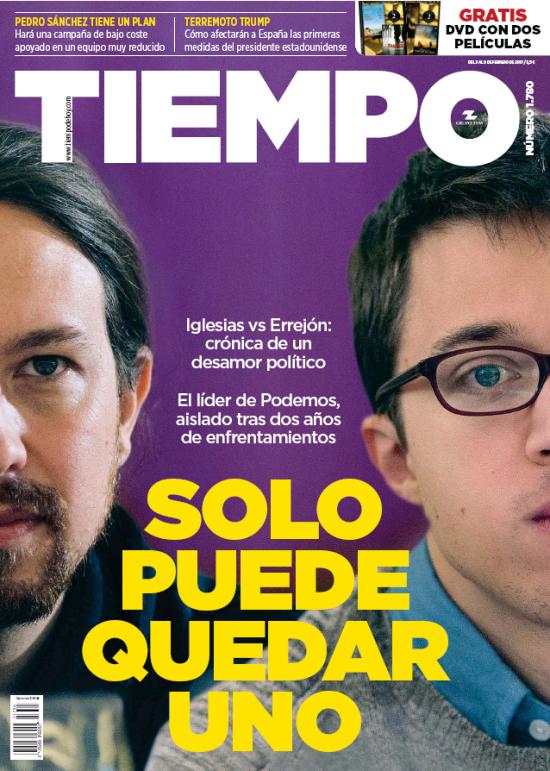 TIEMPO portada 5 de Febrero 2017