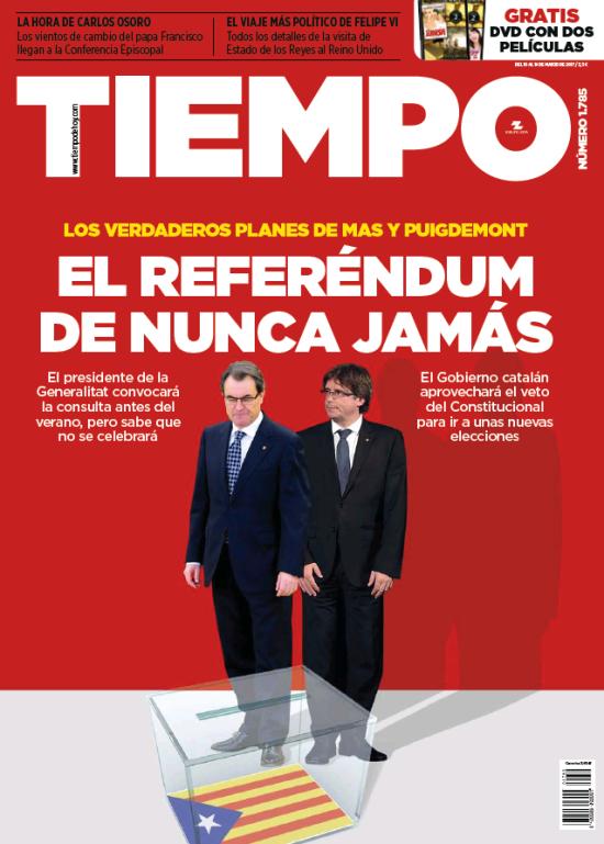 TIEMPO portada 12 de Marzo 2017