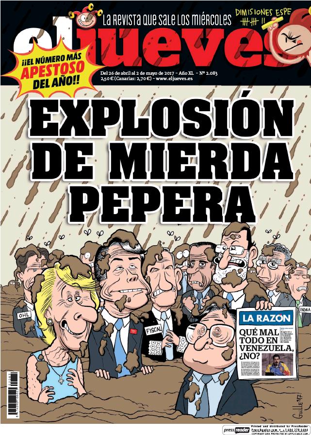 JUEVES portada 26 de Abril 2017