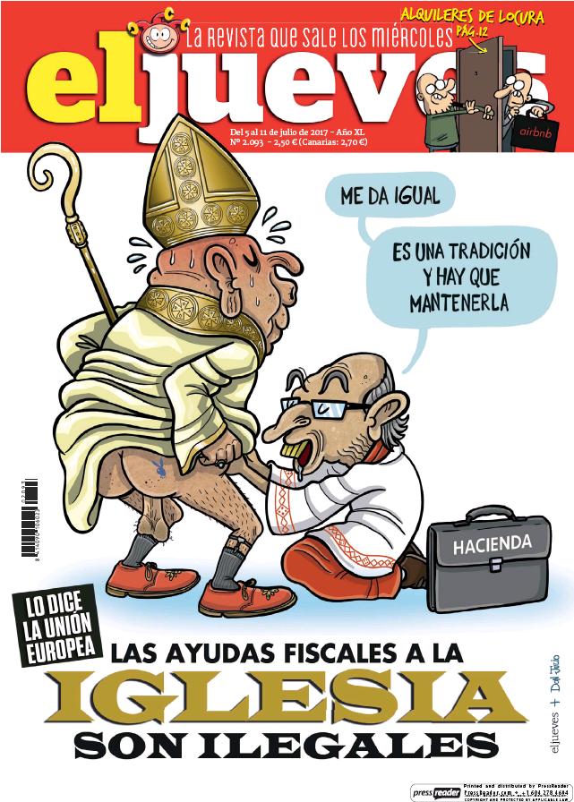 JUEVES portada 5 de Julio 2017